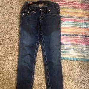 True Religion brand dark skinny jeans - size 24